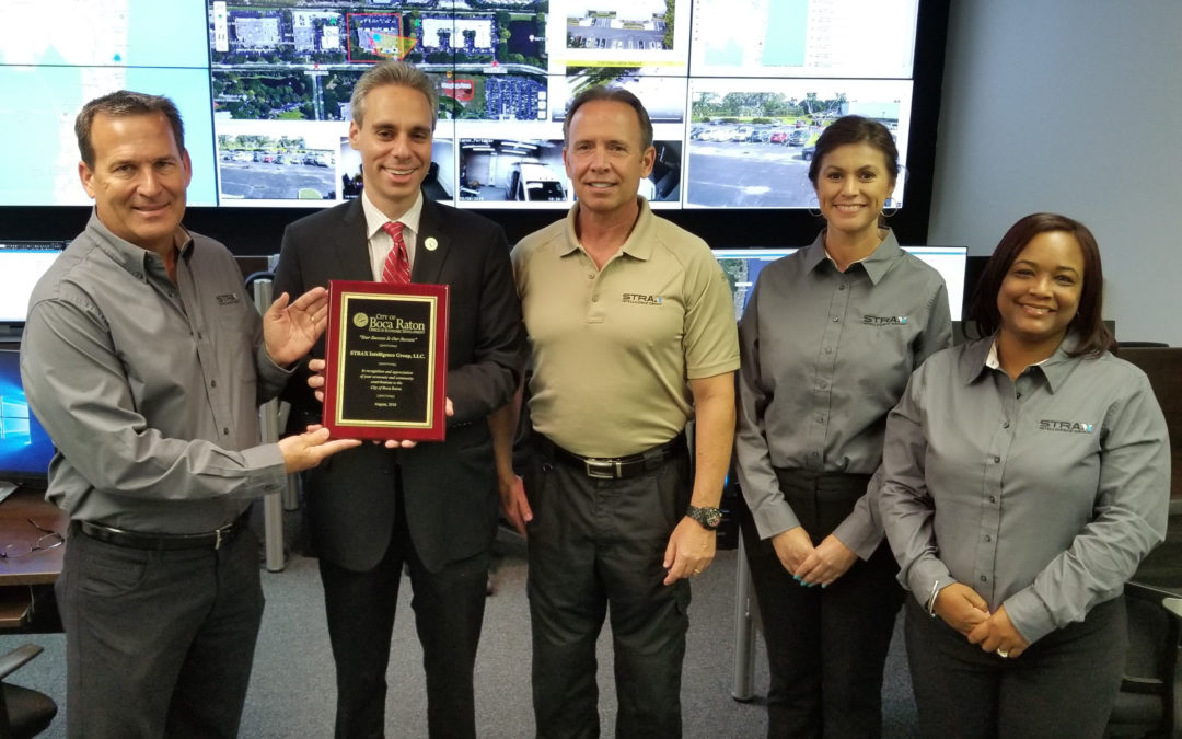 """City of Boca Raton Office of Economic Development Continues """"Success Tour"""" with Visit to STRAX Intelligence, LLC"""